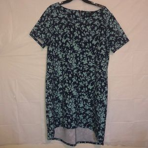 💜 Como Black Brand Navy Blue/Mint Floral Dress 2x